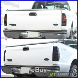 Black Smoke 1999-2007 Ford F250 Superduty 97-03 F150 LED Tail Lights Brake Lamps