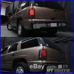 Black Smoke 2000-2006 Chevy Suburban 1500 2500 Tahoe Yukon LED Tail Lights Lamps