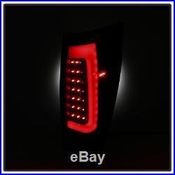 Black Smoke 2002-2006 Chevy Avalanche 1500 2500 LED Tube Tail Lights Brake Lamps
