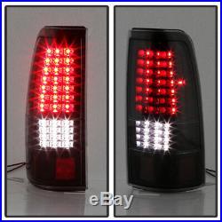 Black Smoke 2003-2006 Chevy Silverado 1500 2500 3500 Full LED Tail Lights Lamps