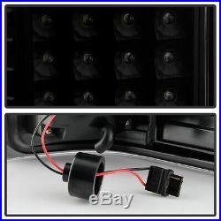 Black Smoke 2007-2013 Chevy Silverado 1500 Sequentia LED Tube Tail Lights Lamps