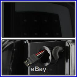 Black Smoke 2007-2013 GMC Sierra 1500 2500HD 3500HD LED Tube Tail Lights Lamps