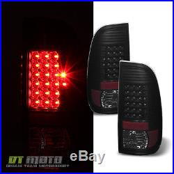 Black Smoke 2008-2016 Ford F250 F350 Super Duty LED Tail Lights Lamps Left+Right