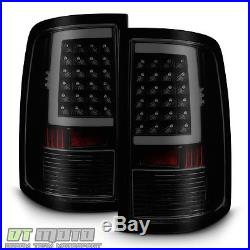 Black Smoke 2009-2017 Dodge Ram 1500 10-17 2500 3500 LED Tube Tail Lights Lamps