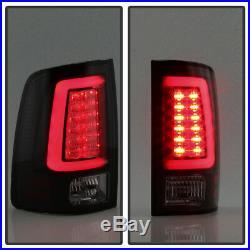 Black Smoke 2009-2018 Dodge Ram 1500 2500 3500 LED Tube Tail Lights Brake Lamps