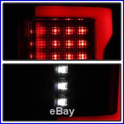 Black Smoke 2015-2018 Ford F150 Full LED with Blind Spot Sensor Tail Lights Lamps