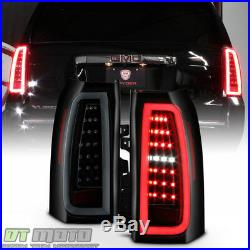 Black Smoke 2015-2019 Chevy Suburban Tahoe Full LED Tube Tail Lights Brake Lamps