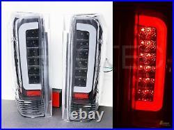 Black Smoke LED Tail Lights 90-96 Ford F150 Pickup 92-96 Bronco 97 98 F250 F350