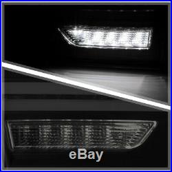 Black/Smoke TRON LED BAR Sequential Signal Tail Light Lamp for 11-14 VW Jetta