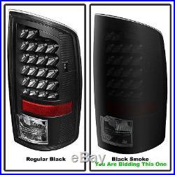 Black Smoked 02-06 Dodge Ram 1500/ 03-06 2500 3500 LED Tail Lights +LED Brake
