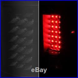 Black Smoked 07-13 Silverado Pickup Truck LED Tail Brake Lights Lamps 2007-2013
