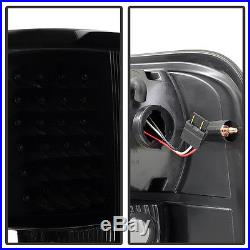 Black Smoked 2004-2008 Ford F150 Pickup Styleside LED Tail Lights Set Left+Right