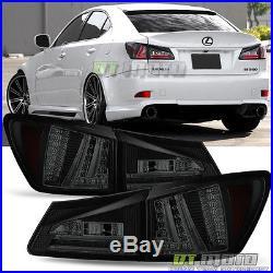 Black Smoked 2006-2008 Lexus IS250/IS350 LED Rear Brake Tail Lights TailLamps