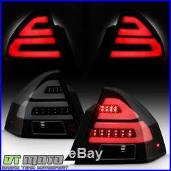 Black Smoked 2006-2013 Chevy Impala LED Tube Tail Lights Brake Lamps Left+Right