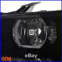 Black Smoked 2007-2013 Silverado Pickup Truck Headlights + LED Tail Lights Lamps