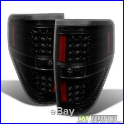 Black Smoked 2009-2014 Ford F150 F-150 LED Tail Lights Brake Lamps Left+Right