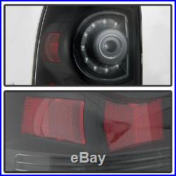 Black Smoked For 2005-2015 Toyota Tacoma LED Tail Lights Lamps 05-15 Left+Right