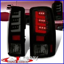 Black Smoked LED Bar Brake Tail Lights Lamps For 2000-2006 Suburban Yukon Tahoe