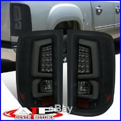 Black Smoked LED Neon Tube Brake Tail Lights Lamps Pair For 2007-2013 GMC Sierra