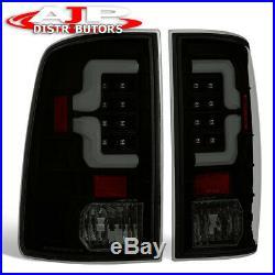 Black Smoked LED Tail Light Brake Lamps For 2009-2018 Dodge Ram 1500/2500/3500