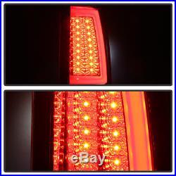 Blk 1999-2002 Chevy Silverado 99-06 GMC Sierra LED Tube Tail Lights Brake Lamps