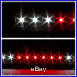 Blk 2007-2013 Chevy Silverado 1500 2500 3500 LED Tail Lights+LED 3rd Brake Lamp