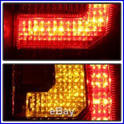 Blk 2007-2014 Chevy Suburban Tahoe Yukon LED Signal Light Tube Tail Lights Lamps