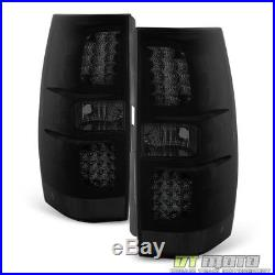 Blk Smoked 2007-2014 Chevy Suburban Tahoe Yukon LED Tail Lights Lamps Left+Right
