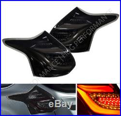 Brand New! 2012-2014 Ford Focus Hatchback LED Tail Light Pair Smoke Red Streak