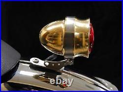 Brat Style Solid Brass Led Tail Light Cafe Racer Street Fighter Bobber Chopper