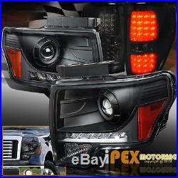Brightest LED Front & Rear 09-14 Ford F150 Projector Head Lights With Tail Light
