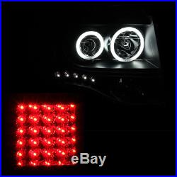 CCFL Halo 2007-2012 Ford Expedition Black Projector Headlights+LED Tail Lamps