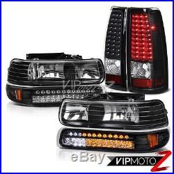 CHEVY 99-02 Silverado BRIGHT LED Black LED BackUp Tail Light Headlights Headlamp