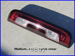 CUSTOM! 14-17 Silverado Sierra Smoked Third brake light Black OEM Tinted non led