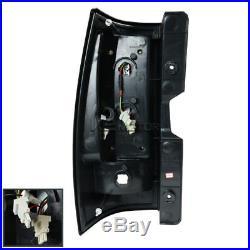Chevy 07-14 Tahoe Suburban Black LED Rear Tail Lights Brake Lamps Left+Right