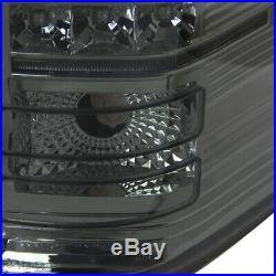 Chevy 2007-2014 Silverado 1500 2500HD 3500HD Smoke LED Rear Tail Brake Lights