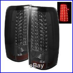 Chevy 99-02 Silverado 99-03 GMC Sierra Smoked LED Tail Brake Lights Left & Right