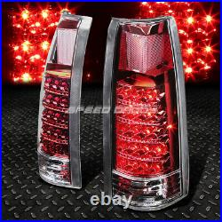 Chrome Headlight+amber Corner+bumper+red Led Tail Light For 94-02 Chevy C10 C/k