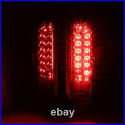 Chrome/Red FULL LED Tail Light Brake Lamp for 90-97 Ford F150/F250/F350/Bronco