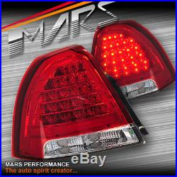 Clear Red LED Tail Lights for HOLDEN STATESMAN WM 06-11