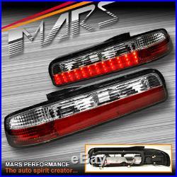 Clear Red LED Tail Lights for Nissan Silvia S13 JDM CA18DET SR20DET