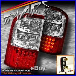 Clear Red LED Tail lights for Nissan Patrol GU 97-04 Series 1, 2, 3