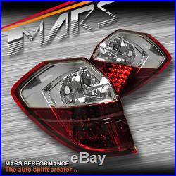 Clear Red LED Tail lights for Subaru 4GEN Liberty Legacy OutBack 03-09 Wagon