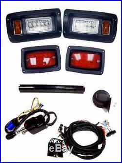 Club Car DS Golf Cart Deluxe LED Light Kit LED Headlight/Taillight Horn