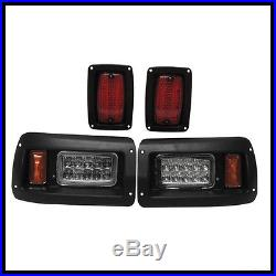 Club Car DS Golf Cart LED Headlight & Tail Light Kit 1993-UP Gas and Elec Models