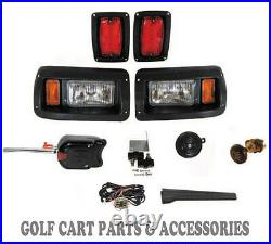 Club Car DS Golf Cart LED Headlight & Tail Light Kit Deluxe Street Package