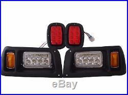 Club Car DS LED Light Kit Adjustable Headlights / Tail Lights 93+ G&E Golf Cart