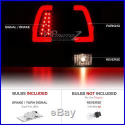 DARKEST Black Smoke 1997-2003 F150 F250 Superduty NEON TUBE LED Tail Lights