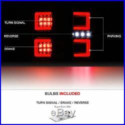 DARKEST SMOKE Tron Style LED Tail Light For 16-19 Toyota Tacoma SR5 TRD PRO