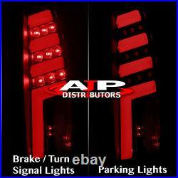 Dark Smoke Tube LED Tail Lights Lamps For 1988-1998 Chevy C10 C1500 K1500 C/K